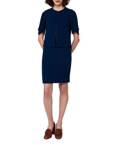 Sleeveless Wool Crepe Sheath Dress and Matching Items