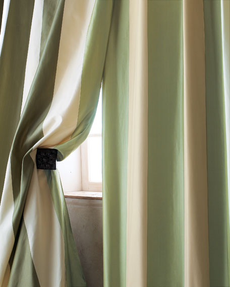 "Home Silks Each Hampton Curtain, 96""L"