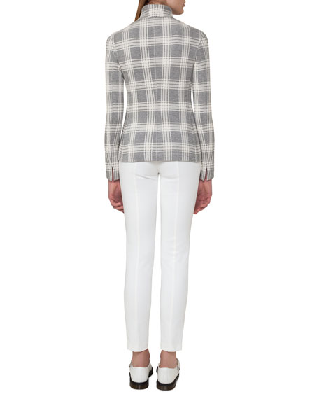 Short-Sleeve Ribbed Pullover, Off White