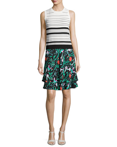 jardin tiered stretch jersey skirt, black and Matching Items