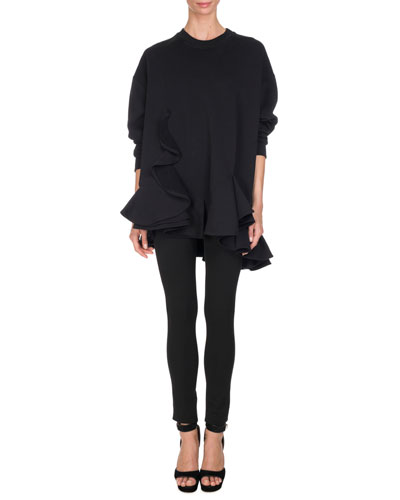 Five-Pocket Jersey Leggings, Black and Matching Items