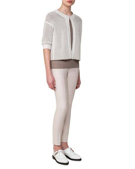 Melissa Flannel Slim-Leg Pants