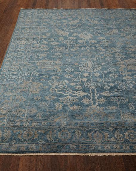 Cece Magnolia Wool Rug, 6' x 9'