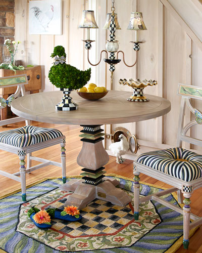 Grange Pedestal Table & Butterfly Dining Chair