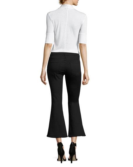 Le Crop Bell Pants, Black