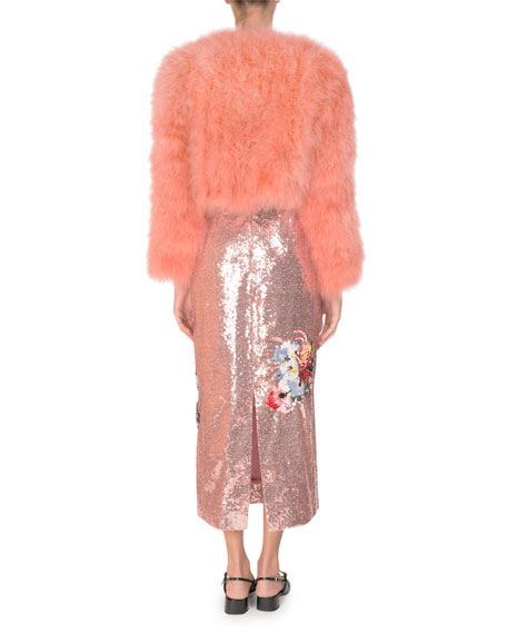 Emery Floral Sequined Midi Dress, Pink