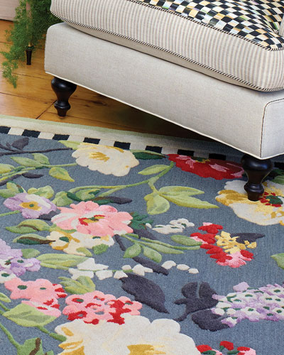Tudor Rose Rug, 2.25' x 3.75' and Matching Items