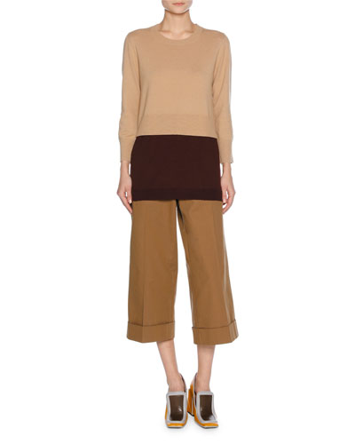 Stretch-Cotton Culottes, Neutral and Matching Items
