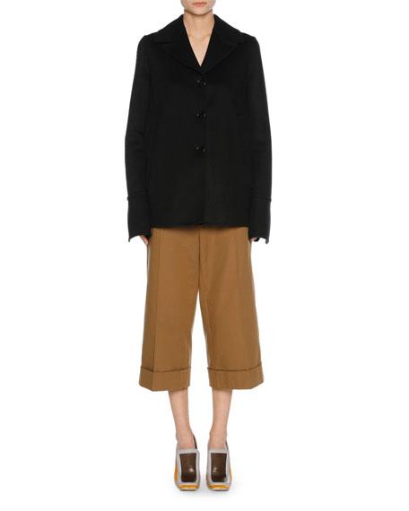 Stretch-Cotton Culottes, Neutral
