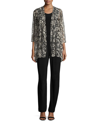 Embroidered Mesh Draped Jacket  and Matching Items