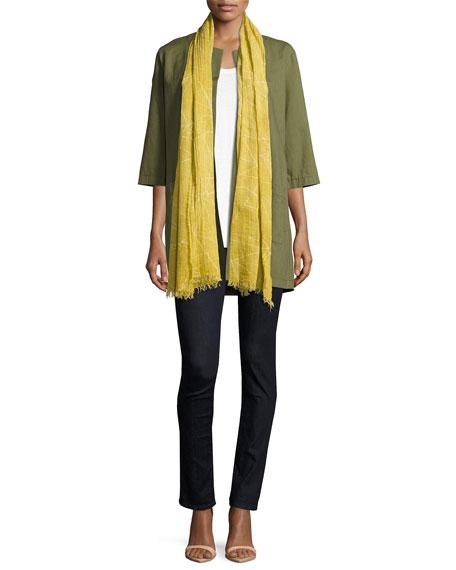 Cross-Dyed Long Jacket, Olive