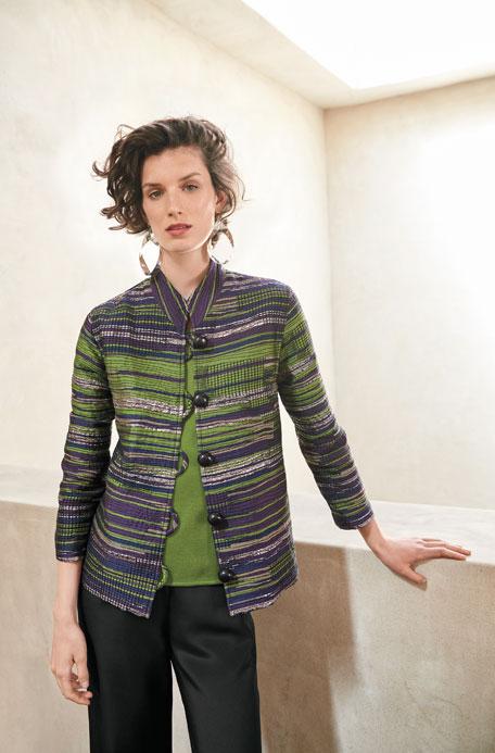 Romancing The Stone Jacquard Jacket, Plus Size