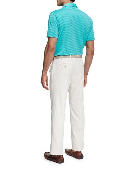 Commander Striped Short-Sleeve Jersey Polo Shirt
