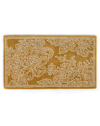 Wild Rose Rug, Wheat