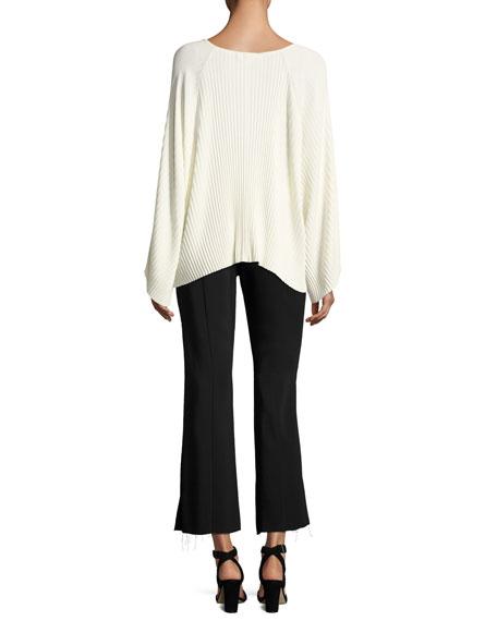 Carel Fit & Flare Side-Zip Cropped Pant, Black