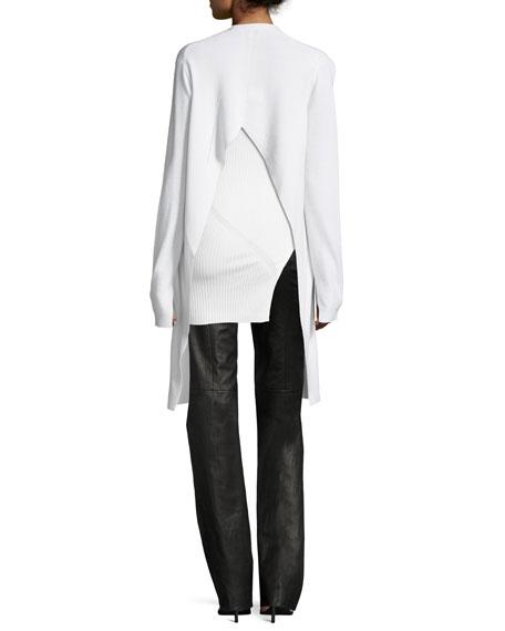 Ribbed Silk Asymmetric Top