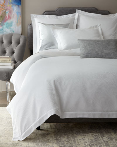 Winter White Scroll Bedding