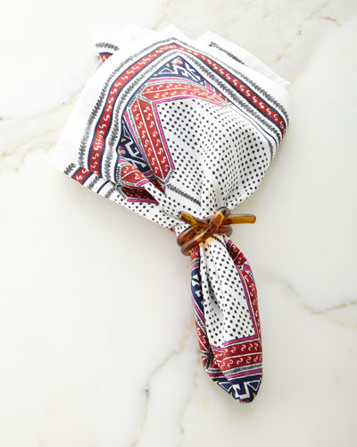 Tangier Napkin & Tortoise Knot Napkin Ring