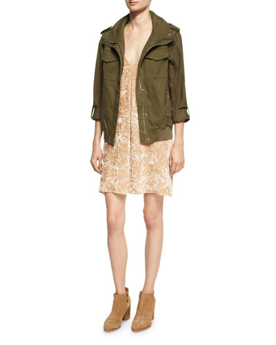 Marvis Never Say Never Utility Cargo Jacket, Green Multi and Matching Items