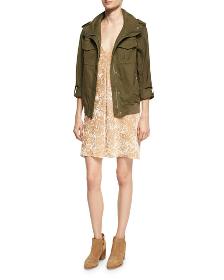 Marvis Never Say Never Utility Cargo Jacket, Green Multi