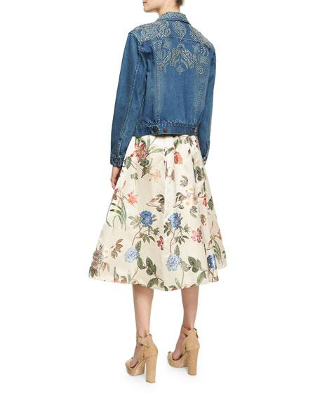 Chloe Studded Denim Jacket, Blue