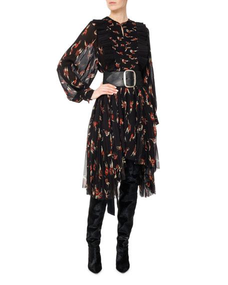 Wesley Birds of Paradise Pleated Midi Dress