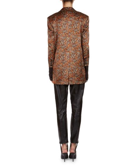 Dijon Floral Jacquard Silk Blazer