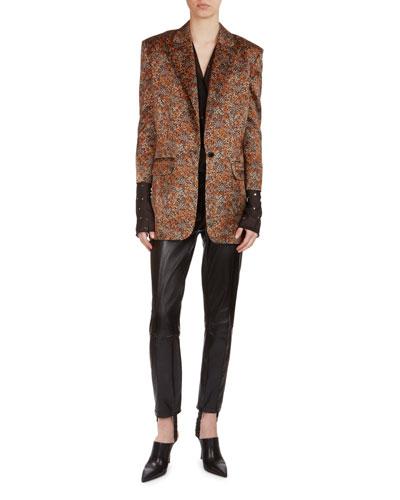 Dijon Floral Jacquard Silk Blazer and Matching Items