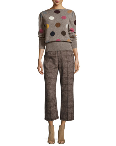 Polka Dot Intarsia Wool Sweater and Matching Items