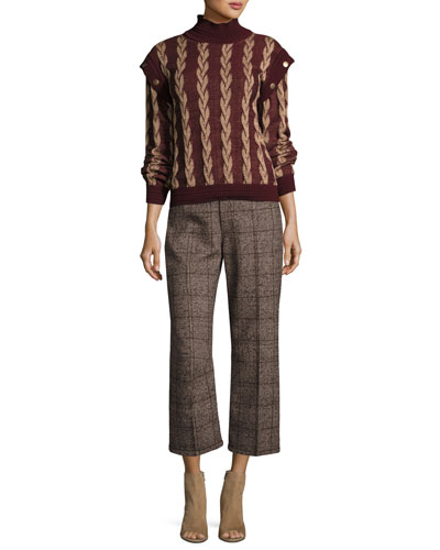 Plaid Tweed Cropped Pants and Matching Items