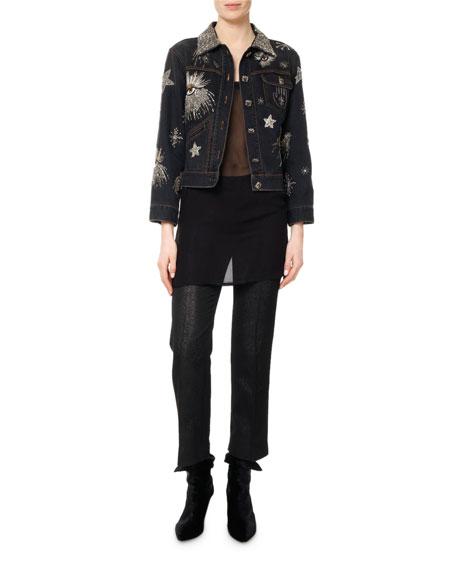 Eloise Embellished & Embroidered Jean Jacket