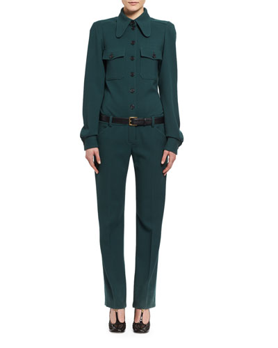 Wool Utility Jumpsuit, Dark Green and Matching Items