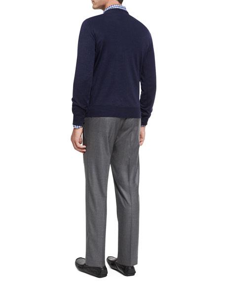 Collection Multi-Season Merino Wool Flat-Front Trousers
