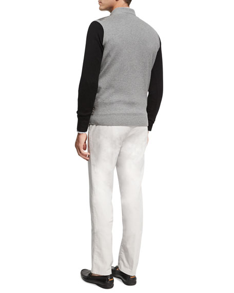 Crown Soft Merino/Silk Wool V-Neck Sweater