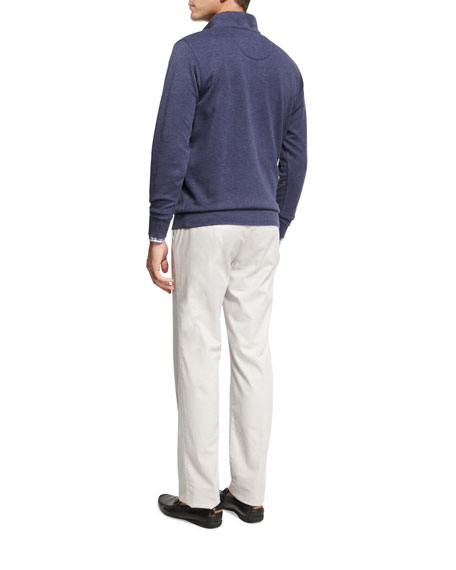 Crown Comfort Heather Interlock Quarter-Zip Pullover