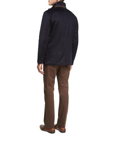 Wade Wool-Cashmere Blazer Jacket, Navy