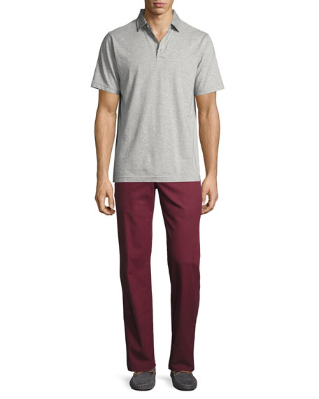 Crown Soft Striped Cotton-Silk Polo Shirt