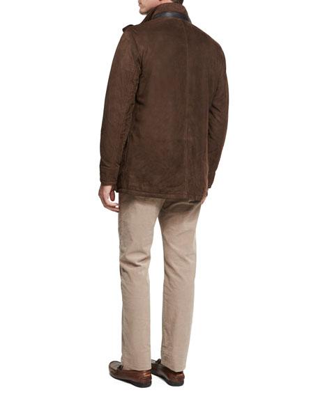 Five-Pocket Stretch Corduroy Pants