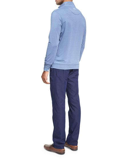 Crown Sport Honeycomb Glen Plaid Performance Sport Shirt, Dark Blue