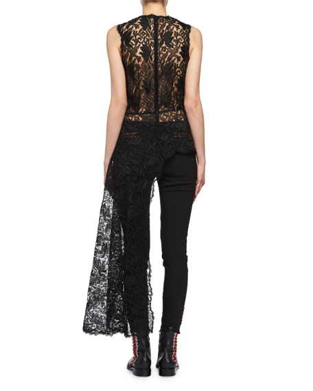 Whipstitch Skinny Ankle Pants