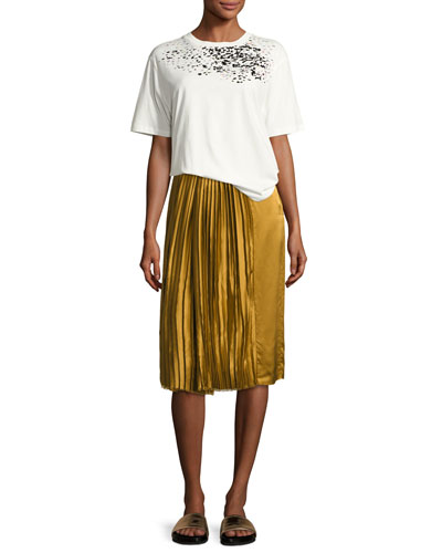 Adara Crewneck Cotton T-Shirt, Off-White and Matching Items