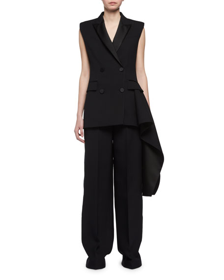Tailored Tuxedo Vest with Tail