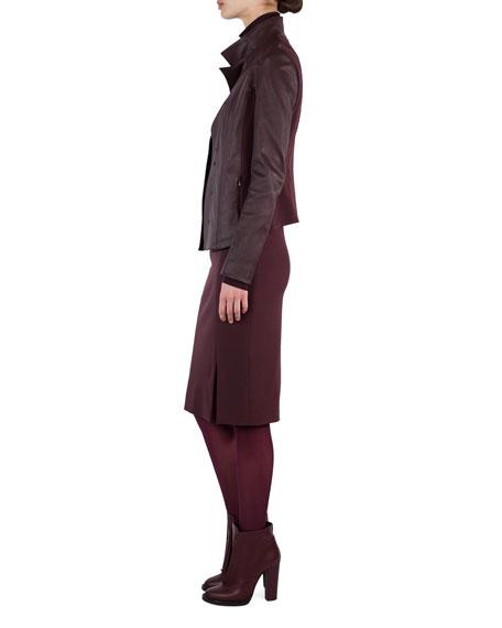 Stretch-Gabardine Pencil Skirt