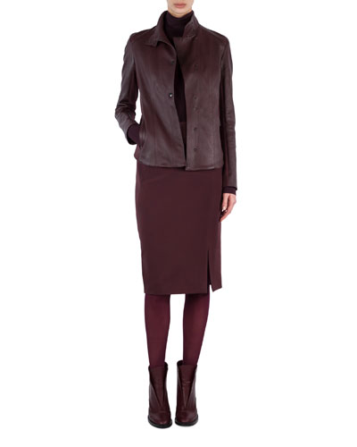 Stretch-Gabardine Pencil Skirt and Matching Items