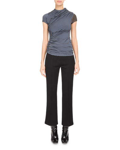 Asymmetric High-Waist Kick-Flare Pants and Matching Items