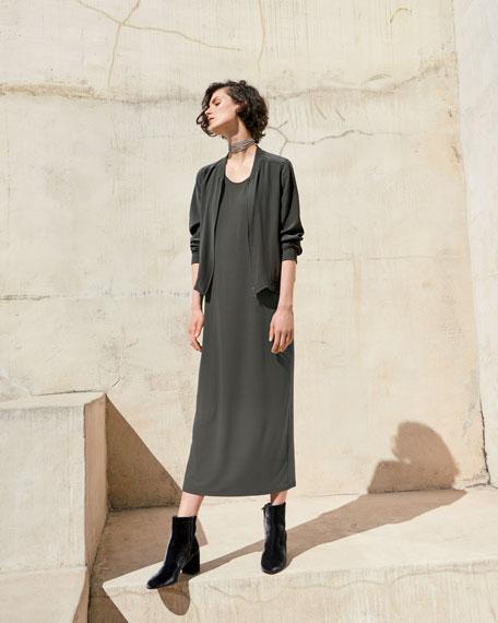 Sleeveless Scoop-Neck Midi Dress, Plus Size