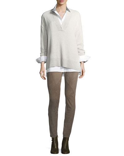 Jessie Long-Sleeve Stretch-Cotton Blouse and Matching Items