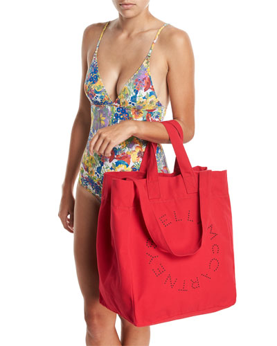Canvas Beach Tote Bag and Matching Items