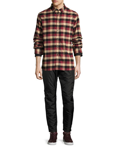 Leto Plaid Flannel Shirt, Burgundy and Matching Items