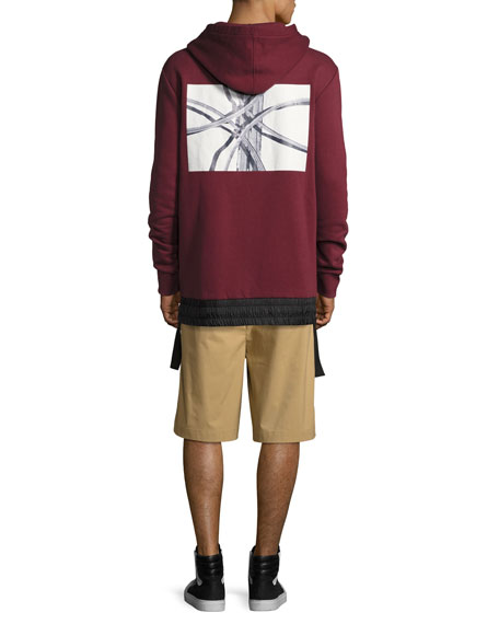 Langston Highway French Terry Hoodie, Burgundy